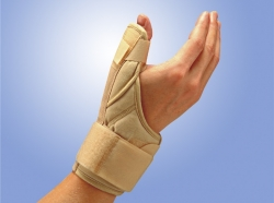 Поддерживающий бандаж (ортез) на запястье и палец с ребрами жесткости 841