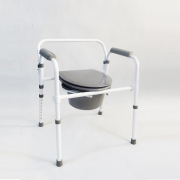 Folding commode chair with quick-release - model TGR-R KT 618